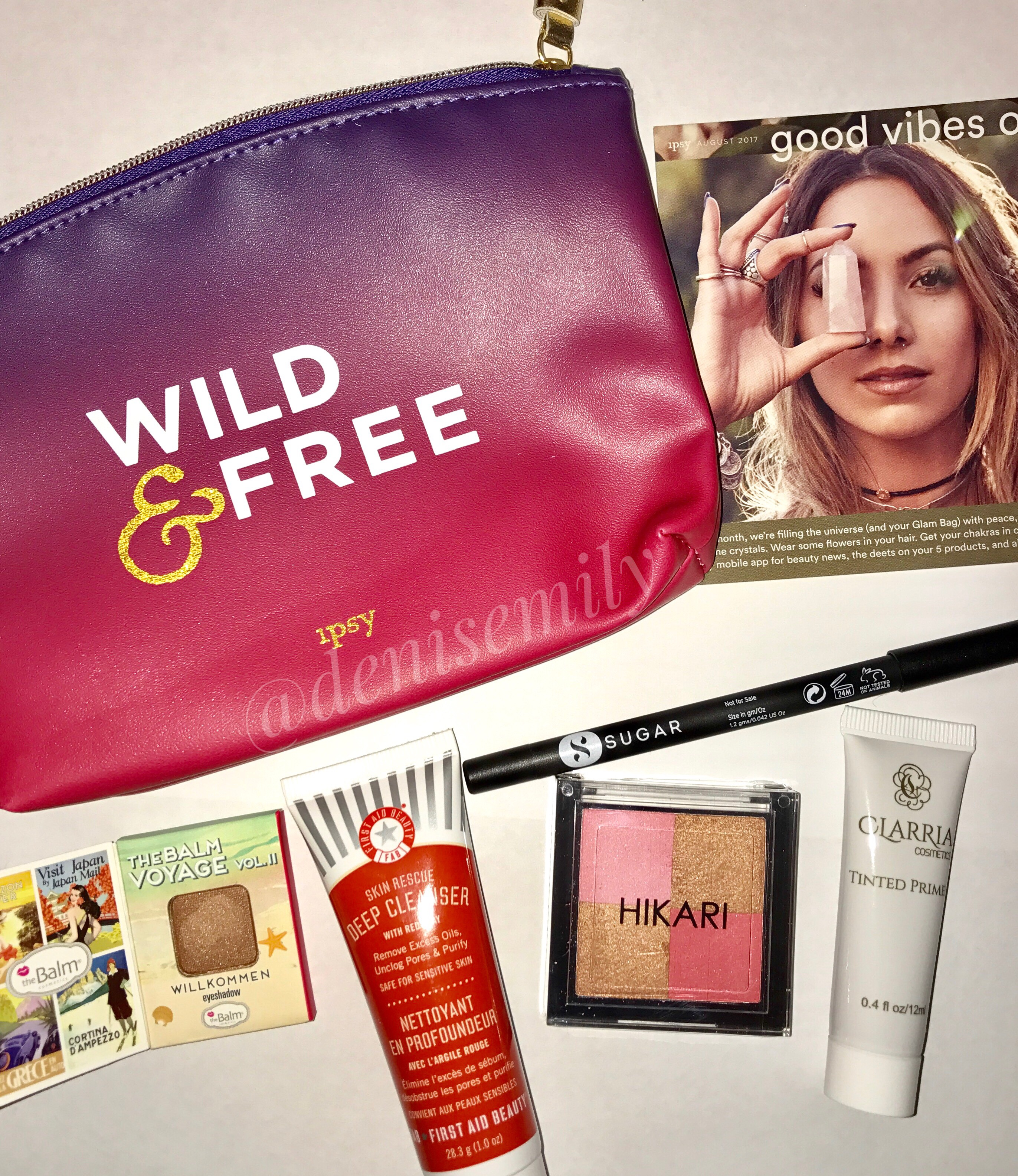 August 2017 Ipsy Glam Bag